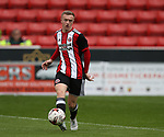 Jordan Hallam of Sheffield Utd during the U23 Professional Development League Two match at Bramall Lane Stadium, Sheffield. Picture date 18th August 2017. Picture credit should read: Simon Bellis/Sportimage
