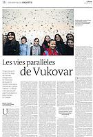 LE MONDE (main French daily)..2011/12/29.Vukovar.Photo: Marko Djurica