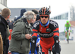 Daniel Oss (ITA) BMC Racing Team makes his way to the start of the 56th edition of the E3 Harelbeke, Belgium, 22nd  March 2013 (Photo by Eoin Clarke 2013)