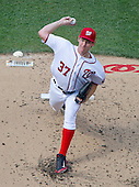 Washington Nationals starting pitcher Stephen Strasburg (37) works in the second inning against the Chicago Cubs at Nationals Park in Washington, D.C. on Wednesday, June 15, 2016.<br /> Credit: Ron Sachs / CNP