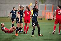 Seattle, WA - Saturday, June 30, 2018: Seattle Reign FC vs Portland Thorns at the UW Medicine Pitch at Memorial Stadium.
