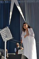 """SAO PAULO, SP, 05 DE MAIO DE 2012 - SHOW MARIA RITA - Acantora Maria Rita realizou um show na tarde deste sabado no Parque da Juventude, zona norte da cidade. No show, que faz parte da turnê """"Viva Elis"""" a cantora cantou os sucesso de sua mãe Elis Regina.(FOTO: LEVI BIANCO - BRAZIL PHOTO PRESS)"""