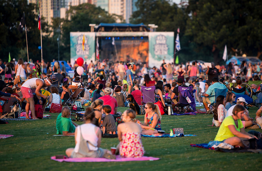Blues on the Green is a series of free summertime concerts held in Austin's Zilker Park. Concert goers bring blankets and the family for live music from their favorite artists.
