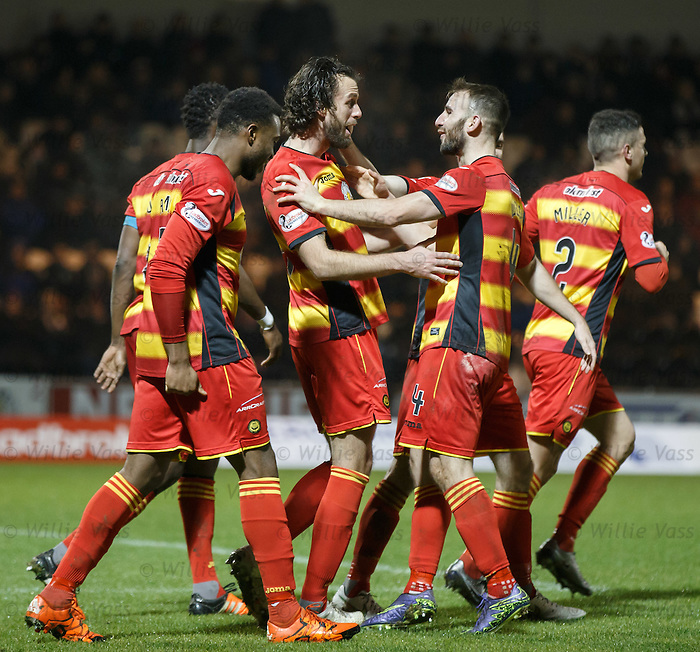 Dan Seaborne takes the acclaim after scoring