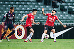 Muangthong United Forward Xisco Jimenez (r) during an attack of Muangthong during the 2017 Lunar New Year Cup match between SC Kitchee (HKG) vs Muangthong United (THA) on January 28, 2017 in Hong Kong, Hong Kong. Photo by Marcio Rodrigo Machado/Power Sport Images