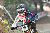 10th September 2017, Smithfield Forest, Cairns, Australia; UCI Mountain Bike World Championships; Greg Williamson (GBR) riding for Cube Global Squad Protected by Bliss during the elite mens downhill race;