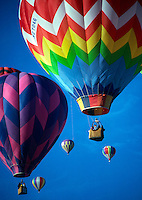 Hot air balloons.<br />