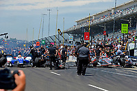 Verizon IndyCar Series<br /> Indianapolis 500 Carb Day<br /> Indianapolis Motor Speedway, Indianapolis, IN USA<br /> Friday 26 May 2017<br /> Finals, James Hinchcliffe, Schmidt Peterson Motorsports Honda against Will Power, Team Penske Chevrolet<br /> World Copyright: F. Peirce Williams