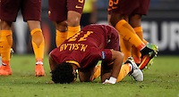 Roma&rsquo;s Mohamed Salah celebrates after scoring during the Europa League Group E soccer match between Roma and Astra Giurgiu at Rome's Olympic stadium, 29 September 2016. Roma won 4-0.<br /> UPDATE IMAGES PRESS/Isabella Bonotto