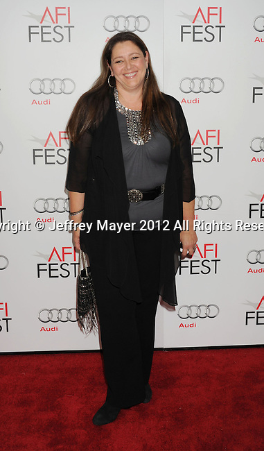 HOLLYWOOD, CA - NOVEMBER 08: Camryn Manheim arrives at the 'Lincoln' premiere during the 2012 AFI FEST at Grauman's Chinese Theatre on November 8, 2012 in Hollywood, California.