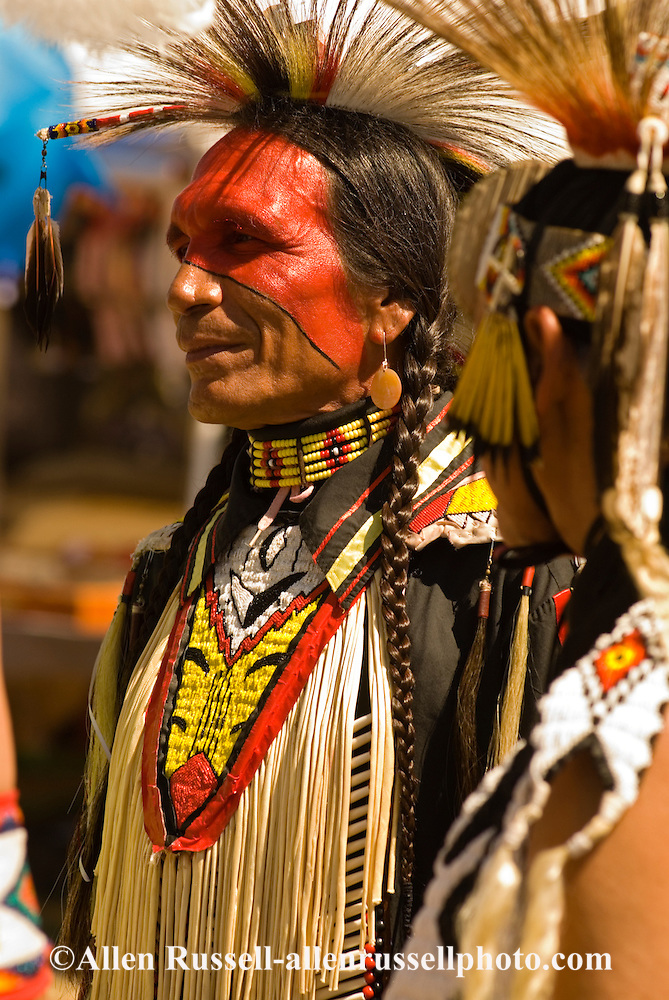 Sioux Traditional Dancer At Crow Fair Powwow Crow Indian