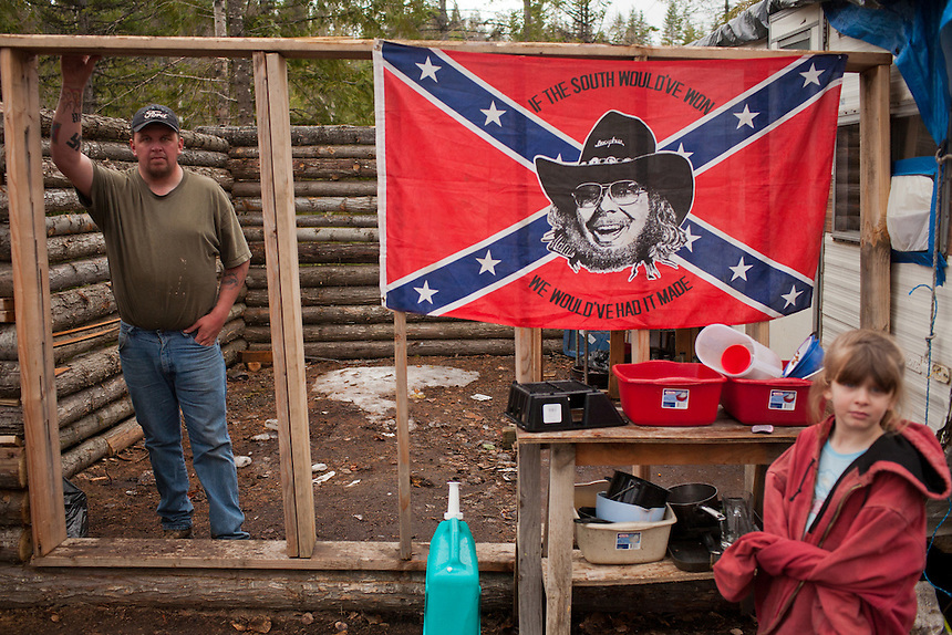 Shaun Patrick Winkler, an admitted white separatist and member of the Ku Klux Klan, runs for sheriff in Bonner County, Idaho during 2012.