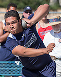 Damonte's A. Williams won the boys shot put during the Reed Sparks Rotary Invitational track and field event at Reed High School in Sparks, Saturday, April 1, 2017.