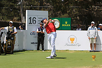 Webb Simpson (USA) on the 16th tee during the First Round - Four Ball of the Presidents Cup 2019, Royal Melbourne Golf Club, Melbourne, Victoria, Australia. 12/12/2019.<br /> Picture Thos Caffrey / Golffile.ie<br /> <br /> All photo usage must carry mandatory copyright credit (© Golffile | Thos Caffrey)