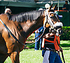Call Pat in the paddock before The Winter Melody Stakes at Delaware Park on 5/20/15