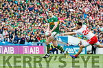 David Moran, Kerry in action against Pádraig Hampsey, Tyrone during the All Ireland Senior Football Semi Final between Kerry and Tyrone at Croke Park, Dublin on Sunday.