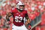 Wisconsin Badgers linebacker T.J. Edwards (53) during an NCAA Big Ten Conference football game against the Maryland Terrapins Saturday, October 21, 2017, in Madison, Wis. The Badgers won 38-13. (Photo by David Stluka)