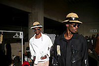 CAPE TOWN, SOUTH AFRICA JULY 2: Models walking for the designer label Augustine waits backstage before a show at South Africa Menswear week 2015 on July 2, 2015 in Cape Town, South Africa. The second edition of SAMW featured designers from South Africa and around Africa showing spring and summer collections during the 3-day event. (Photo by Per-Anders Pettersson)