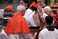 US cardinal James Michael Harvey,Pope Benedict XVI leads a ceremony to appoint six new cardinals at St Peter's basilica at the Vatican.November 24, 2012