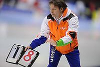 SCHAATSEN: HEERENVEEN: IJsstadion Thialf, 29-12-2012, Seizoen 2012-2013, KPN NK allround, Jeroen Otter (trainer Nationale Trainingsselectie Shorttrack), ©foto Martin de Jong