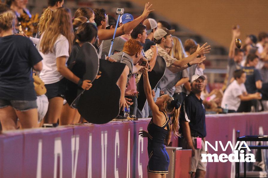 NWA Democrat-Gazette/MICHAEL WOODS &bull; @NWAMICHAELW<br /> Shiloh Christian ve Charleston Tuesday September 1, 2015 at Razorback Stadium in Fayetteville.