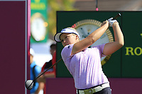 Brooke M. Henderson (USA) tees off the 6th tee during Thursday's Round 1 of The Evian Championship 2018, held at the Evian Resort Golf Club, Evian-les-Bains, France. 13th September 2018.<br /> Picture: Eoin Clarke | Golffile<br /> <br /> <br /> All photos usage must carry mandatory copyright credit (&copy; Golffile | Eoin Clarke)