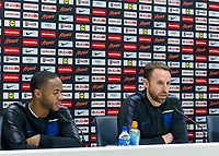 Gareth Southgate manager of England and Raheem Sterling of England during the England National Team Training ahead of the international friendly match with Italy at Tottenham Hotspur Training Ground, Hotspur Way, England on 26 March 2018. Photo by Vince  Mignott.