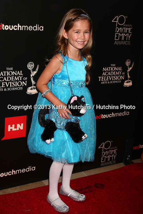 LOS ANGELES - JUN 16:  Brooklyn Rae Silzer arrives at the 40th Daytime Emmy Awards at the Skirball Cultural Center on June 16, 2013 in Los Angeles, CA