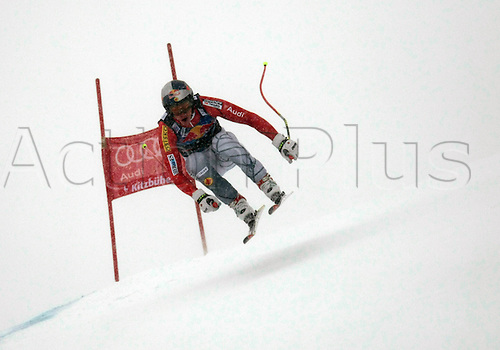 21.01.2012. Kitzbuehel, Austria. Erik GUAY (CAN) in action during the Alpine Ski World Cup Hahnenkamm Downhill