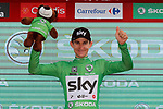 Michal Kwiatkowski (POL) Team Sky retains the Green Jersey at the end of Stage 6 of the La Vuelta 2018, running 150.7km from Huércal-Overa to San Javier, Mar Menor, Sierra de la Alfaguara, Andalucia, Spain. 30th August 2018.<br /> Picture: Unipublic/Photogomezsport | Cyclefile<br /> <br /> <br /> All photos usage must carry mandatory copyright credit (© Cyclefile | Unipublic/Photogomezsport)