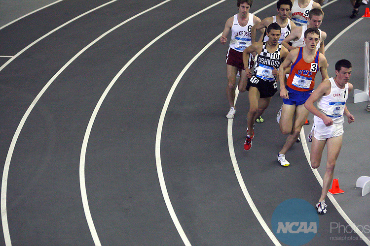 15 MAR 2008: The Division III Men's and Women's Indoor Track and Field Championships held at ONU Sports Center on the Ohio Northern University campus in Ada, Ohio. Jay LaPrete/NCAA Photos