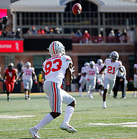 Ohio State Buckeyes wide receiver Terry McLaurin (83) makes a catch and scores a touchdown against Maryland Terrapins during the 2nd quarter of their game at Capital One Field at Maryland Stadium in College Park, Maryland on November 17, 2018. [Kyle Robertson/Dispatch]