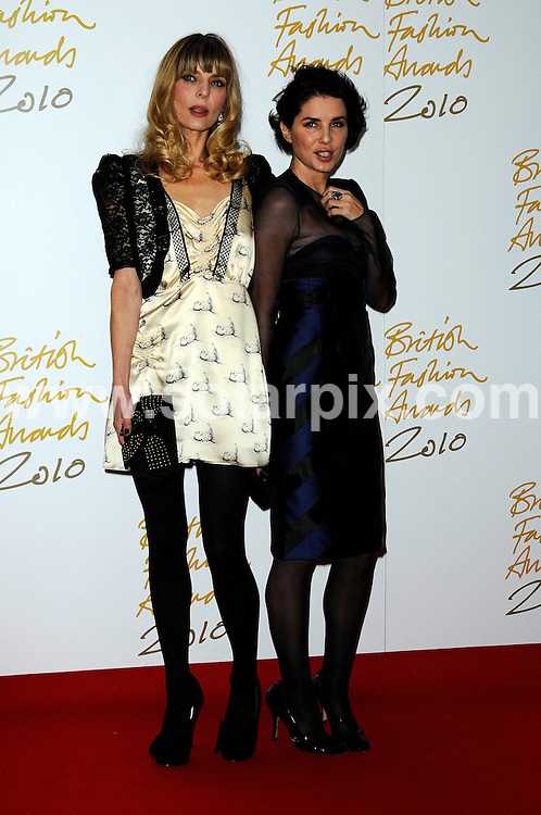 **ALL ROUND PICTURES FROM SOLARPIX.COM**                                             **WORLDWIDE SYNDICATION RIGHTS**                                                                                  Caption: the British Fashion Awards at The Savoy in London, UK. 7 December 2010                                                                            .This pic: Jemma French & Sadie Frost                                                                 ..JOB REF: 12582 MSR       DATE: 07_12_2010                                                           **MUST CREDIT SOLARPIX.COM OR DOUBLE FEE WILL BE CHARGED**                                                                      **MUST AGREE FEE BEFORE ONLINE USAGE**                               **CALL US ON: +34 952 811 768 or LOW RATE FROM UK 0844 617 7637**
