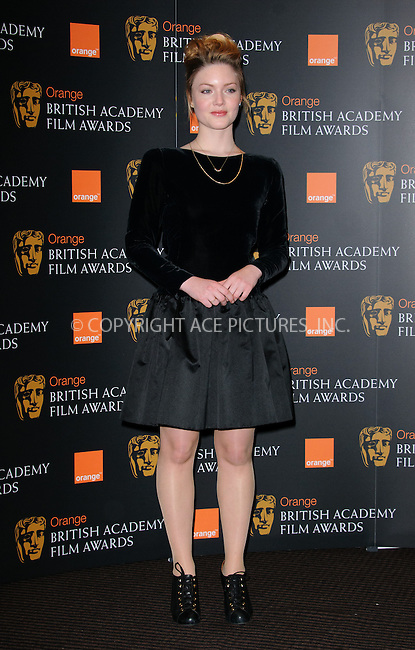 WWW.ACEPIXS.COM . . . . .  ..... . . . . US SALES ONLY . . . . .....January 17 2012, London....Holliday Grainger at the Orange British Academy Film Awards nominations announcement on January 17 2012 in London ....Please byline: FAMOUS-ACE PICTURES... . . . .  ....Ace Pictures, Inc:  ..Tel: (212) 243-8787..e-mail: info@acepixs.com..web: http://www.acepixs.com