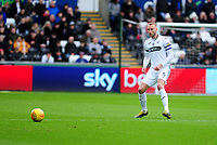 Mike van der Hoorn of Swansea City in action during the Sky Bet Championship match between Swansea City and Millwall at the Liberty Stadium in Swansea, Wales, UK. Saturday 09 February 2019