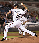 Reno Aces starter Joe Martinez throws agianst the Sacramento River Cats during their play off game on Saturday night September 8, 2012 at Aces Ballpark in Reno NV.