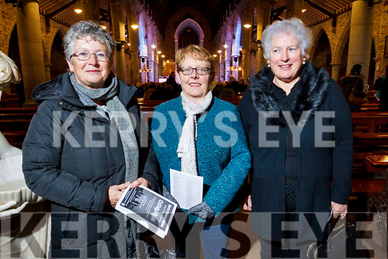 Attending the Kerry Choir recital in St John's Church on Sunday evening are, l-r Shunie O'Flaherty, Josephine O'Riordan and Mairead Mackessy.