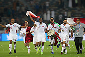 February 1st 2019; Adu Dhabi, United Arab Emirates; Asian Cup football final, Japan versus Qatar;  Players of Qatar celebrate after they won the final match against Japan by a score of 1-3