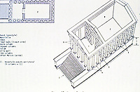 Diagram of Maison Carrée, Nimes France, late 1st c. CE