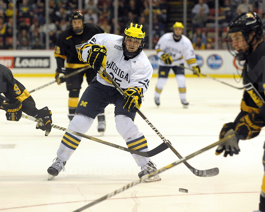 The University of Michigan ice hockey team defeats Colorado College 6-4 to win the Great Lakes Invitational at Joe Louis Arena in Detroit, Mich. on December 30, 2010.