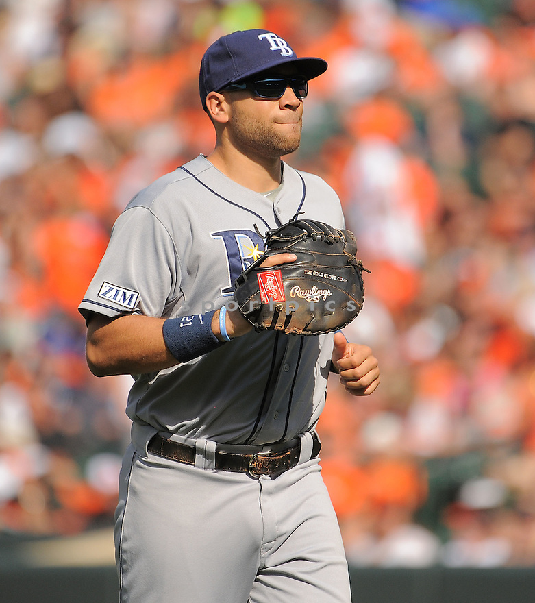Tampa Bay Rays James Loney (21) during a game against the Baltimore Orioles on June 28, 2014 at Oriole Park in Baltimore, MD. The Rays beat the Orioles 5-4.