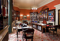 The interior of the London's Royal Automobile Club. The library holds an extensive collection of volumes on automobilia, motoring and motor sports. It also houses the club's archives, which date back to 1897.