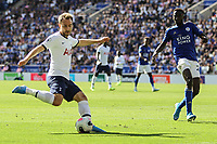 Christian Eriksen of Spurs during the Premier League match between Leicester City and Tottenham Hotspur at the King Power Stadium, Leicester, England on 21 September 2019. Photo by James  Gill / PRiME Media Images.