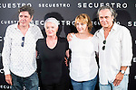 "Antonio Dechent, the director of the film Mar Targarona, Blanca Portillo and Jose Coronado during the presentation of the spanish film ""Secuestro"" in Madrid. July 27. 2016. (ALTERPHOTOS/Borja B.Hojas)"