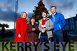 Jean Foley (KCC),Sharon and Joshua Roche and Colm Nagle (KCC) launching the Remembrance Tree outside the Tralee Municipal District Office on Monday and the official lighting ceremony will be held at 3pm on Sunday.