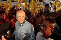 SAO PAULO, SP, 16 DE SETEMBRO 2012 - CAMPANHA ELEITORAL - JOSE SERRA - Ocandidato a prefeitura de São Paulo pelo PSDB Jose Serra participa na manhã deste domingo (16) de reunião com o integrantes do MSTI na quadra da Iperador do Ipiranga em Heliópolis na região Sul de São Paulo.(FOTOS:AMAURI NEHN/BRAZIL PHOTO PRESS)