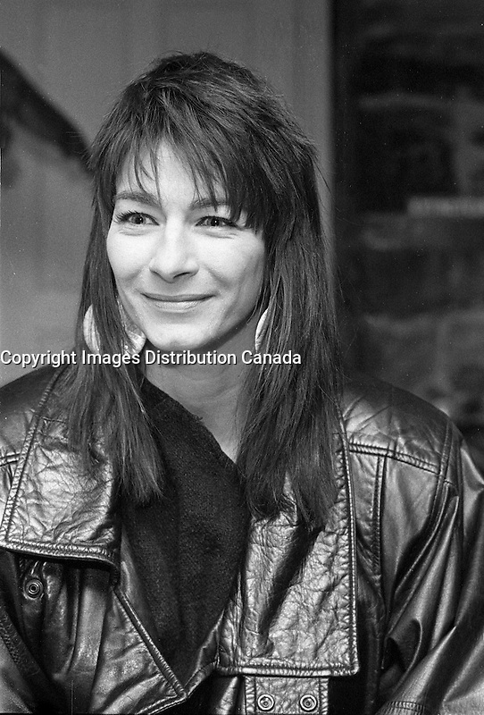 Montreal (Qc) CANADA,February 17, 1989-<br /> <br /> Sylvie Bernard, singer of native origin.<br /> -Photo (c)  Images Distribution