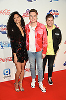 Vick Hope, Roman Kemp and Sonny Jay<br /> at Capital's Jingle Bell Ball 2018 with Coca-Cola, O2 Arena, London<br /> <br /> ©Ash Knotek  D3465  08/12/2018