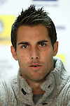 Carlos Bocanegra at the pre-match press conference