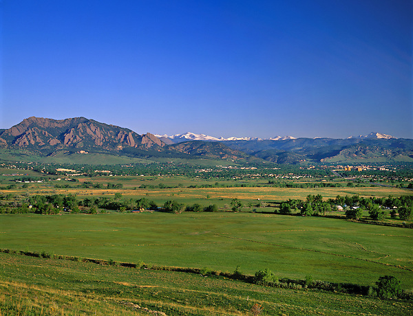 Boulder Valley and the Flatirons rock formation, Boulder, Colorado, USA. Private photo tours to Indian Peaks. Private photo tours of Boulder. .  John leads private photo tours in Boulder and throughout Colorado. Year-round Colorado photo tours.